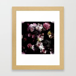 Peony magnolia chinese dragon Framed Art Print