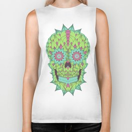 Skull with a floral style Biker Tank