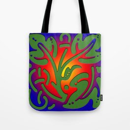 Leaf of tree on colored background: Greenpeace Tote Bag