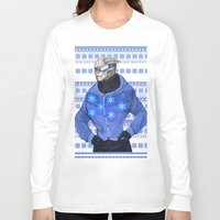 garrus Long Sleeve T-shirts featuring Advances in Christmas Sweaters - Garrus by Weissidian