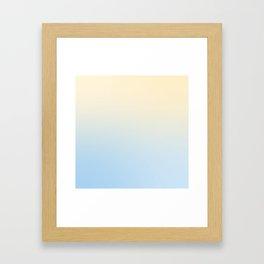 BLIND FAZE - Minimal Plain Soft Mood Color Blend Prints Framed Art Print