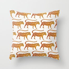 Jaguar Pattern Throw Pillow