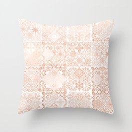 MOROCCAN TILES ROSEGOLD Throw Pillow