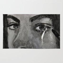 Girl cray, graphic art Rug