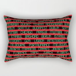 Check Your Flight No. 1 Rectangular Pillow