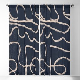 Abstract line art 52 Blackout Curtain