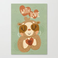 With Love From A Sloth Canvas Print