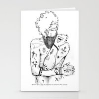the dude Stationery Cards featuring Dude by LSjoberg