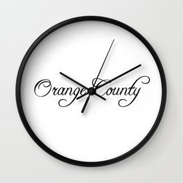 Orange County Wall Clock