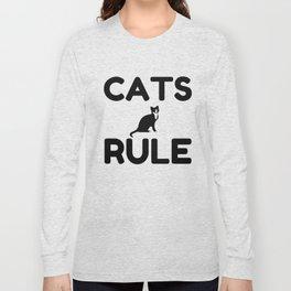 Cats Rule Paw Pet Fan Long Sleeve T-shirt