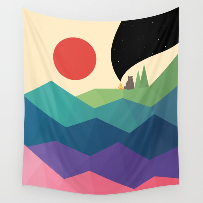 Over The Rainbow Wall Tapestry