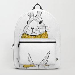 Rabbit in a yellow scarf Backpack