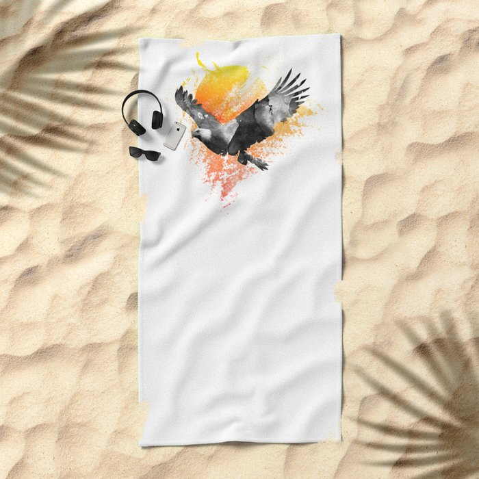 The Eagle that touched the Sun Beach Towel