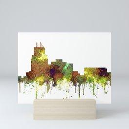 Durham, NC Skyline SG - Safari Buff Mini Art Print