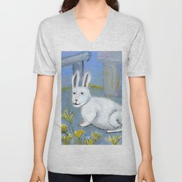 Stonehenge Rabbit Unisex V-Neck