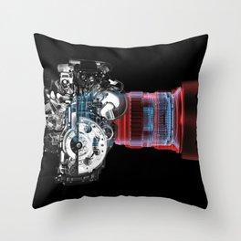 Motor Machine Throw Pillow