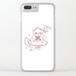 The Adventures of Bear and Baby Bear-Prima Ballerina Clear iPhone Case