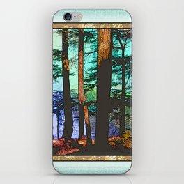 MOUNTAIN LAKE THROUGH HEMLOCK TREES iPhone Skin