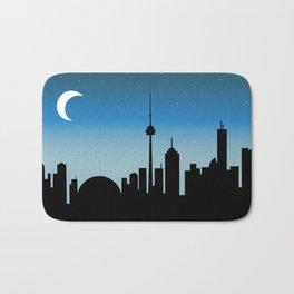 Toronto Skyline - Night Bath Mat