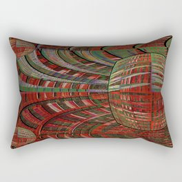 unexpected time warp Rectangular Pillow
