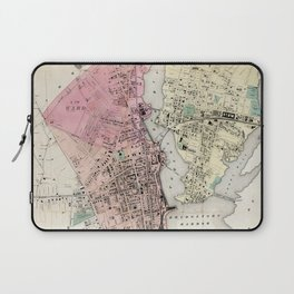 Vintage Map of Bridgeport CT (1867) Laptop Sleeve