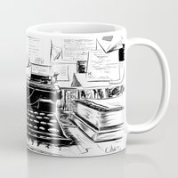 shakespeare Mugs featuring Shakespeare and Company by Chris Hunt
