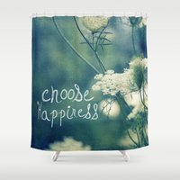 happiness Shower Curtains featuring Happiness by Sandra Arduini