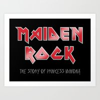 iron maiden Art Prints featuring Maiden Rock, Wisconsin by Project Wisconsin