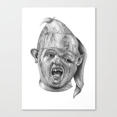 Wood Sloth Canvas Print