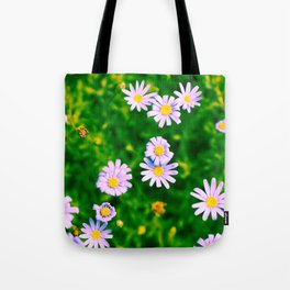 Hypercolor Purple Flowers Tote Bag