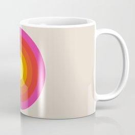 Colored Retro Circle 02 Coffee Mug