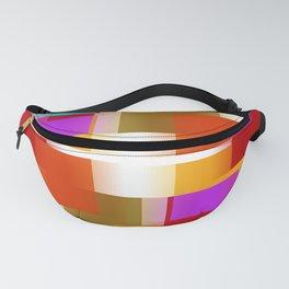 Simple Squares Pure Color Fanny Pack