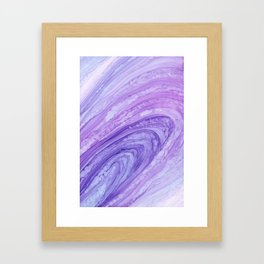 Purple Agate Geode Crystal Slice Framed Art Print