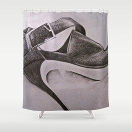 Black Heel Shower Curtain