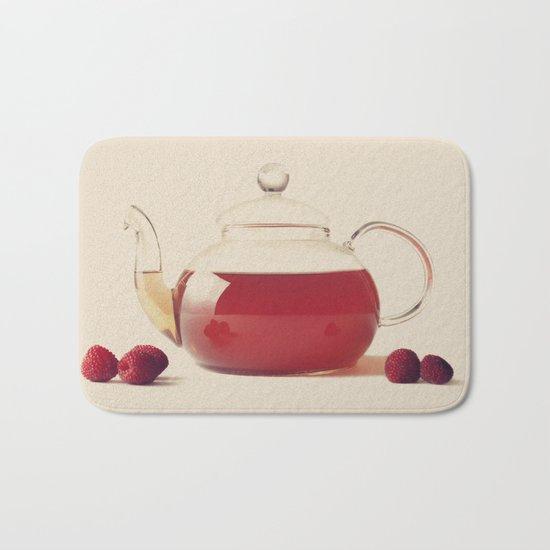 Raspberry Tea (Retro and Vintage Still Life Photography) Bath Mat