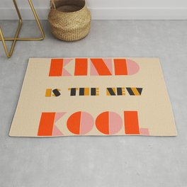 Kind is the new Cool (modern retro vibe) Rug