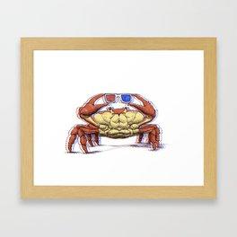3D Crab Framed Art Print