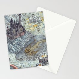 Map of Hogwarts Stationery Cards