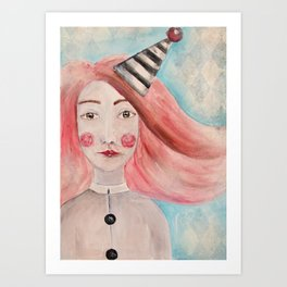 Pierrot Girl Art Print