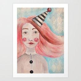 Pierrot Girl Art Print