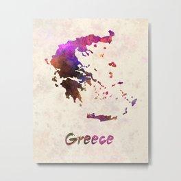 Greece in watercolor Metal Print