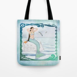 Seaside Mermaid Tote Bag