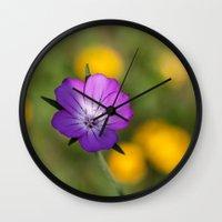 alone Wall Clocks featuring Alone by David Tinsley