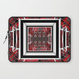 NUMBER 221 RED BLACK GRAY WHITE PATTERN Laptop Sleeve
