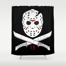 Jason mask Shower Curtain