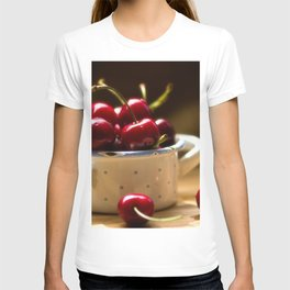 Red Cherries on the table T-shirt
