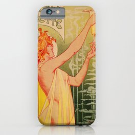 Classic French art nouveau Absinthe Robette iPhone Case