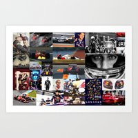 formula 1 Art Prints featuring Formula 1 Collage by Rassva