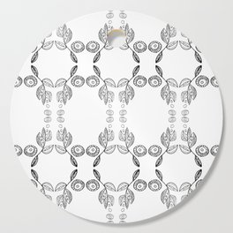 Hand drawn Seed Pods Pattern Cutting Board