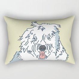 Scampy the Old English Sheep Dog Rectangular Pillow